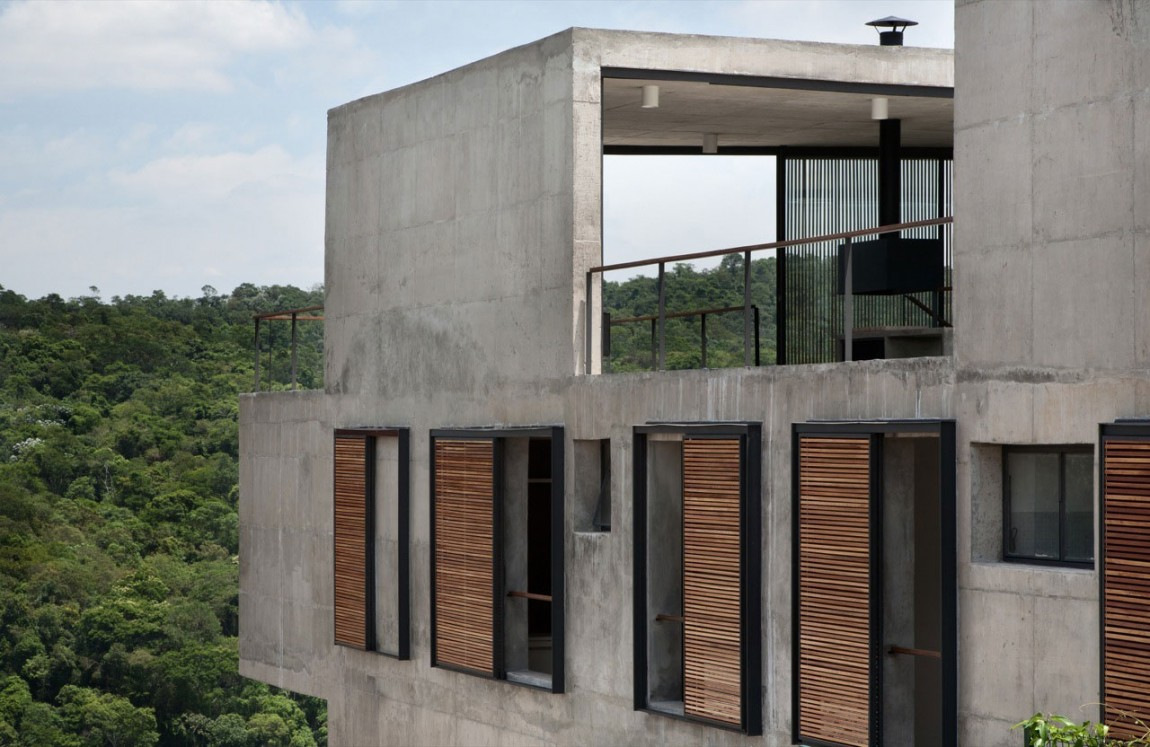 Проекты домов из стекла и бетона: изысканный и простой бразильский особняк