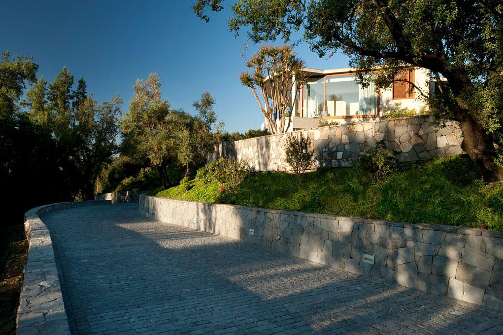Концептуальный загородный дом со стеклянными стенами