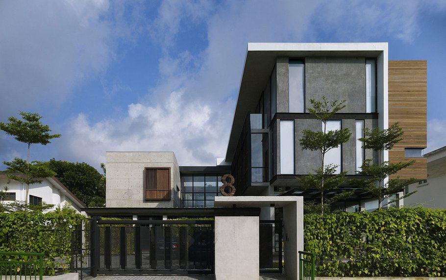 Сад на крыше и другие особенности дома для нескольких семей в Сингапуре