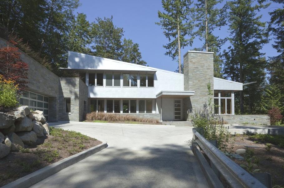 Красивые дома в США: необычная усадьба North Fork Residence