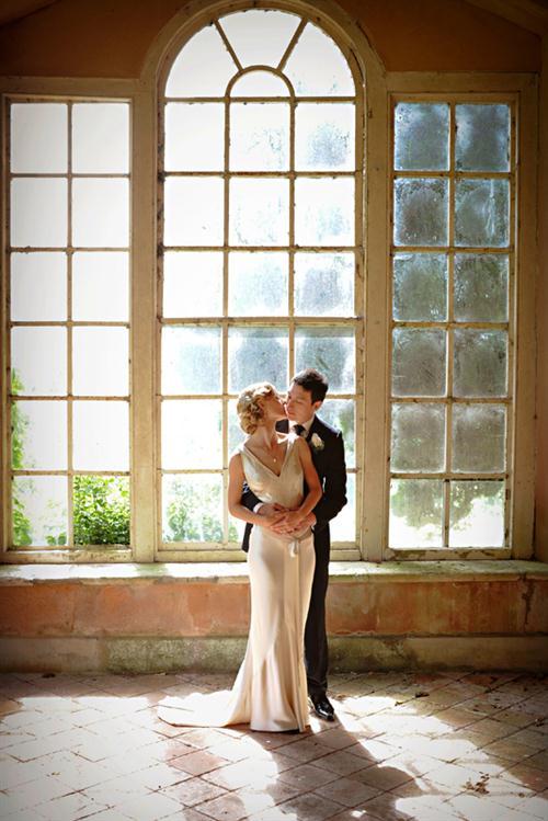 Antique window wedding