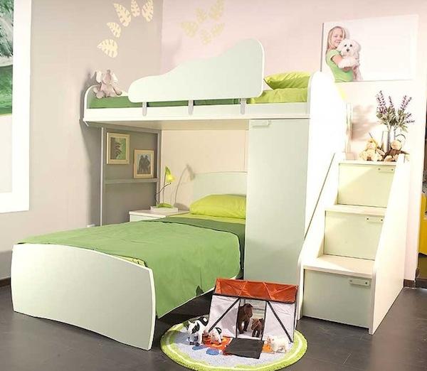 двухъярусные кровати с лестницей для детей