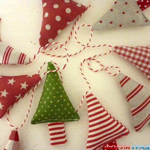 Гирлянда новогодняя своими руками из ткани